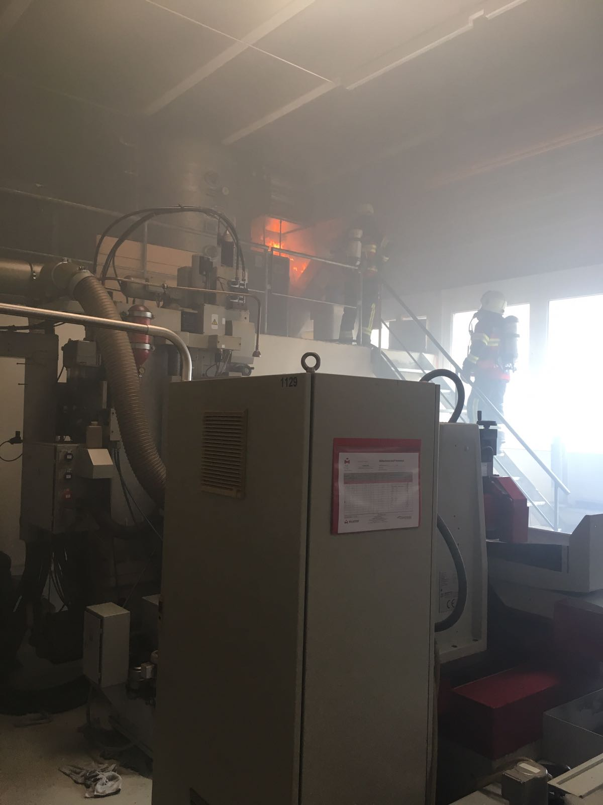 Brand om Strom Verteilkasten