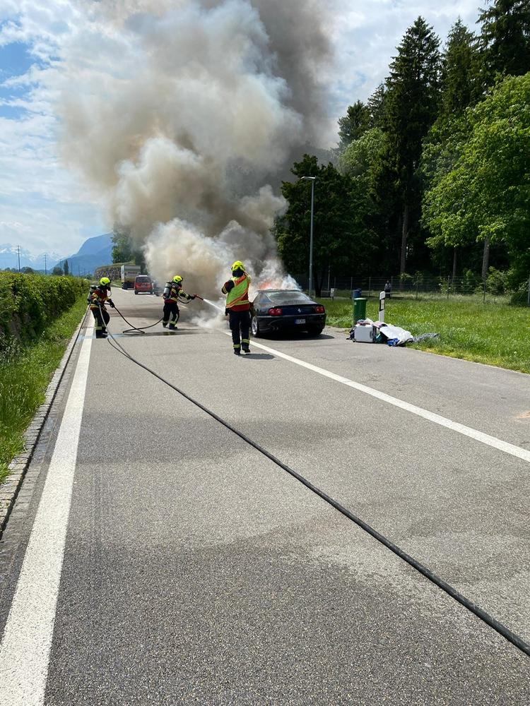 autobrand Rasttätte Kriessern